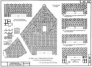 Werkzeichungen für den Wohnungsbau Bauen in Schleswig-Holstein Band 19 1952 Detail 45 02